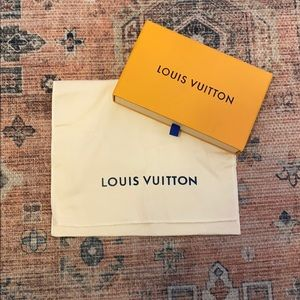 Louis Vuitton box and dust bag